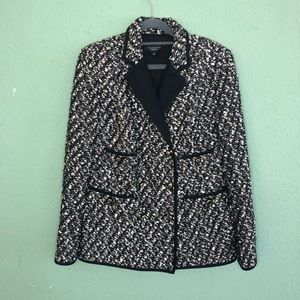 Talbots Double Breasted Tweed Blazer Size 6